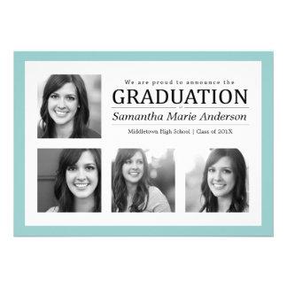 Menta de la invitación de la graduación del collag