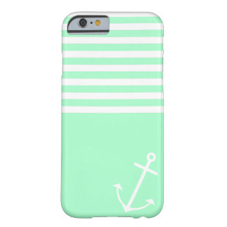 Menta náutica funda de iPhone 6 barely there