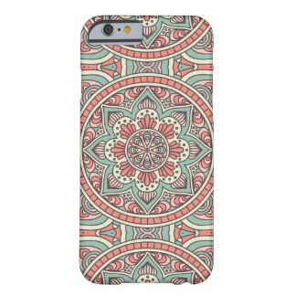 Menta y coral bonitos del modelo de Boho de la Funda Barely There iPhone 6