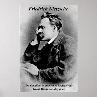 Mentes de Friedrich Nietzsche de los posters de la Póster