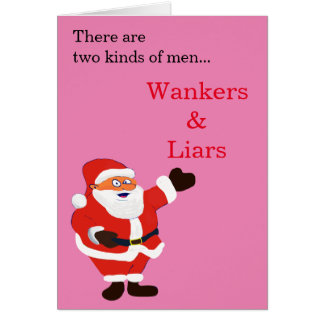 Mentiroso Papá Noel honesto del Wanker Tarjeta Pequeña