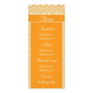Menú amarillo oscuro de la cena de la recepción invitación 10,1 x 23,5 cm