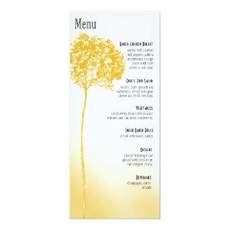 Menú barroco de la cena de Flowerball - oro Invitación 10,1 X 23,5 Cm