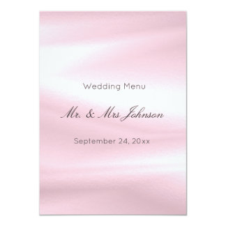 Menú blanco de seda púrpura gris del invitación 11,4 x 15,8 cm