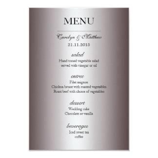 Menú con clase elegante de la bodas de plata invitación 8,9 x 12,7 cm