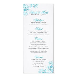 Menú de encargo del boda de la prensa de copiar invitaciones personalizada