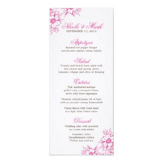 Menú de encargo del boda de la prensa de copiar invitación 10,1 x 23,5 cm