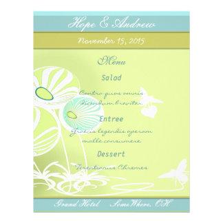 Menú de las flores y de las abejas tarjetas informativas