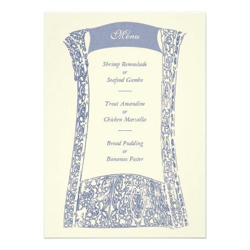 Menú del acontecimiento del boda de la industria s invitaciones personales