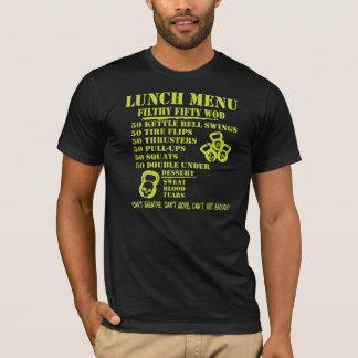 Menú del almuerzo para los cincuenta WOD Camiseta
