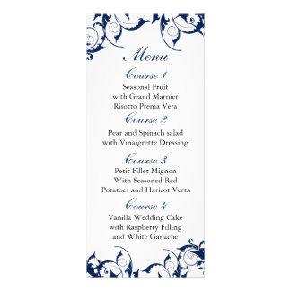 menú del boda de los azules marinos