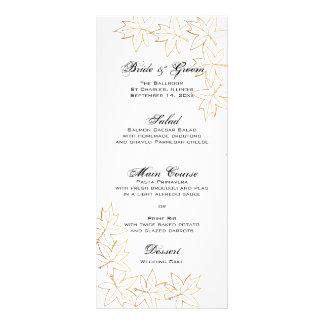 Menú del boda del borde de la hoja de arce del oto tarjeta publicitaria