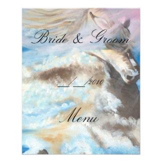 menú del boda tarjetón