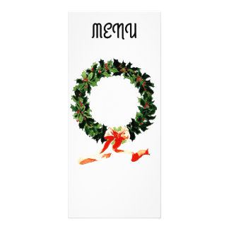 Menú del navidad diseño de tarjeta publicitaria
