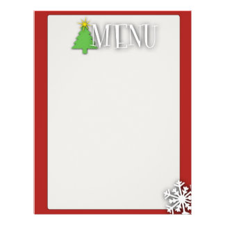 Menú del navidad folleto 21,6 x 28 cm