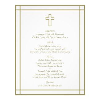 Menú determinado del boda de la cruz del esquema d tarjeton