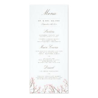 Menú dichoso de la cena de boda de las ramas invitación 10,1 x 23,5 cm