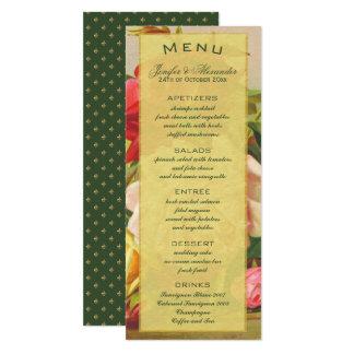 Menú elegante de lujo de la flor de lis de los invitación 10,1 x 23,5 cm