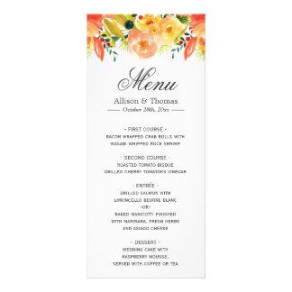 Menú elegante del boda del otoño floral del