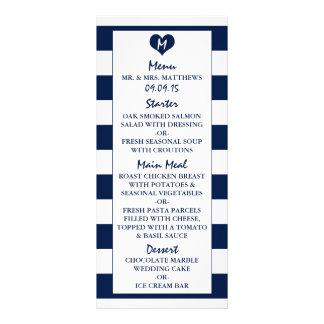 Menú elegante moderno del boda de los azules lonas publicitarias