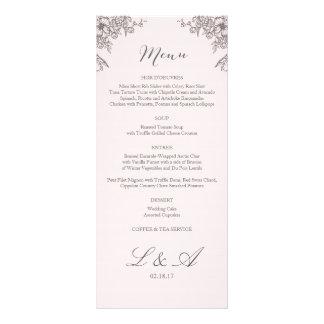 Menú floral del boda de la elegancia tarjetas publicitarias a todo color