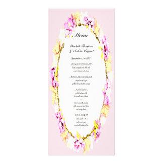 menú floral del boda de la flor suave elegante
