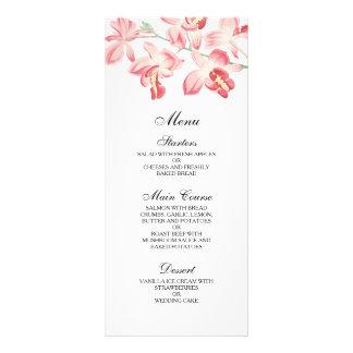 Menú moderno elegante del boda de la orquídea