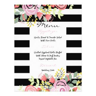 Menú romántico elegante del boda folleto 21,6 x 28 cm