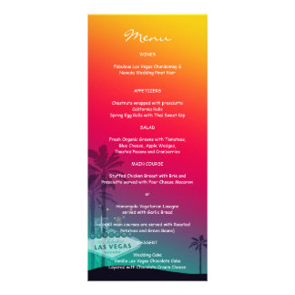 Menús de moda de la cena de la recepción nupcial lonas personalizadas