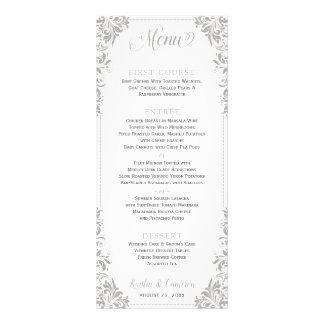 Menús elegantes del boda o del acontecimiento