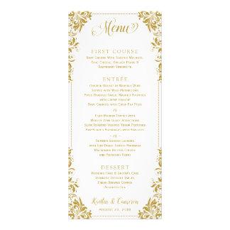 Menús elegantes del boda o del acontecimiento del