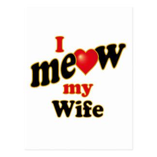 Meow mi esposa postal