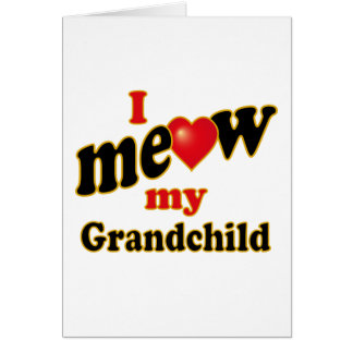 Meow mi nieto tarjeta de felicitación