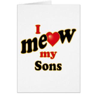 Meow mis hijos tarjeta de felicitación