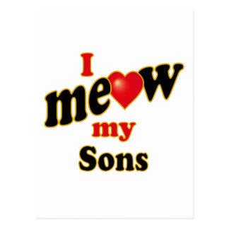 Meow mis hijos postal