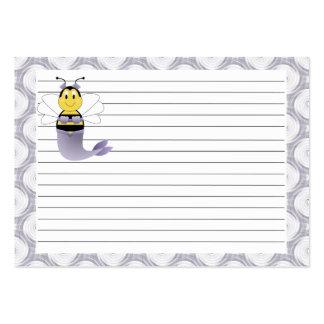 MerBee manosea la tarjeta de la receta de la abeja Plantilla De Tarjeta Personal