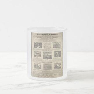 MERCADO AUXILIAR del costado 1836 de AMÉRICA Taza Cristal Mate