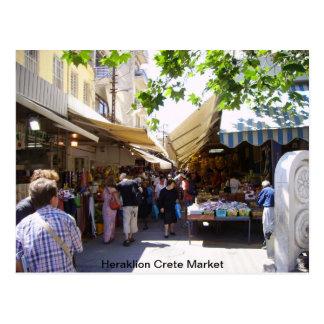 Mercado de Heraklion Creta Postal
