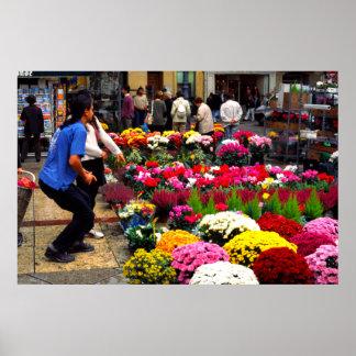 Mercado de la flor, Aix-en-Provence Poster