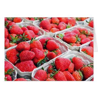 Mercado de las fresas tarjeta de felicitación