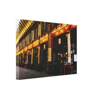 Mercado de Leadenhall en foto de Londres, Reino Impresión En Lienzo Estirada