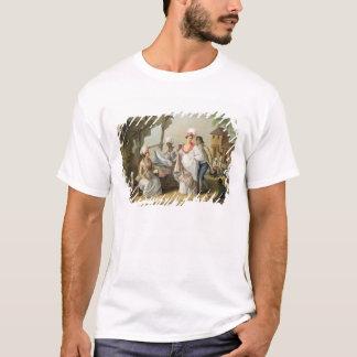 Mercado de lino, Roseau, Dominica, c.1780 (el Camiseta