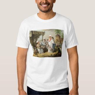 Mercado de lino, Roseau, Dominica, c.1780 (el Camisetas