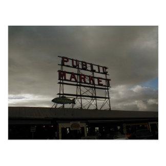 Mercado de lugar de Pike en Seattle Postal