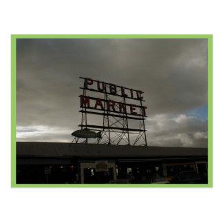 Mercado de lugar de Pike en Seattle Postales