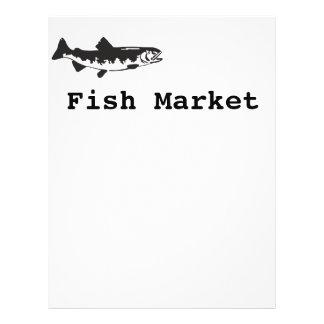 mercado de pescados folleto 21,6 x 28 cm