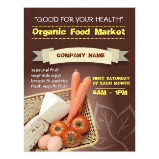 mercado orgánico del aviador folleto 21,6 x 28 cm