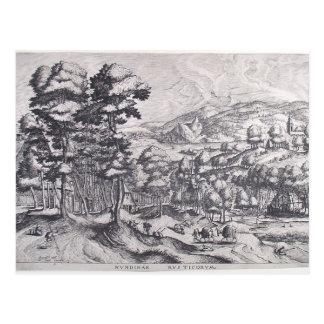 Mercado para el país de Pieter Bruegel la anciano Postal