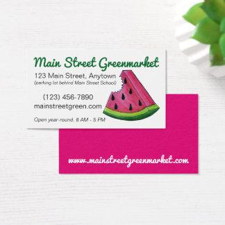 Mercado rosado de la comida de la rebanada del tarjeta de negocios