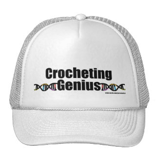 Mercancía Crocheting de la DNA del genio Gorras